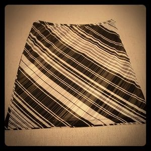 Express Black/White Lined Striped Skirt